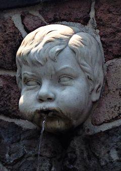 fontana angel head sculpture