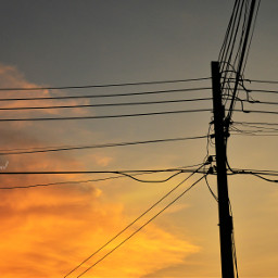 city sunset summer evening