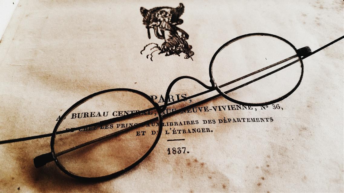 1837    #glasses #book  #photography  #oldphoto  #retro  #sepia  #vintage  #WAPinmyshades #WDPSunglasses